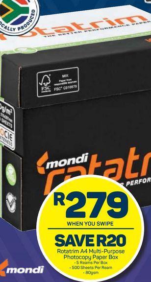 Rotatrim printer paper offers at R 279