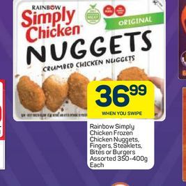 Rainbow Simply Chicken Nuggets, Fingers, Bites  offers at R 36,99