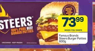 Steers Beef Burgers offers at R 73,99