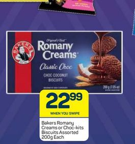 Bakers Romany Creams  offers at R 22,99
