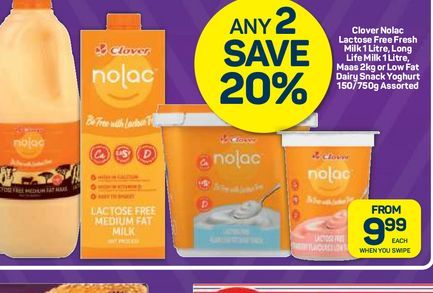 CLover Nolac offers at R 9,99