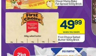 First Choice Butter  offers at R 49,99