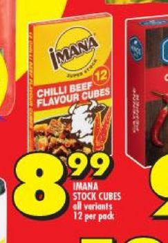 Imana Stock Cubes offers at R 8,99