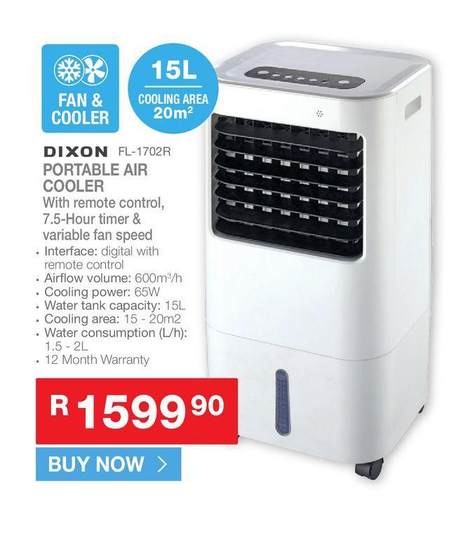 Dixon FL-1702R portable air cooler offers at R 1599,9