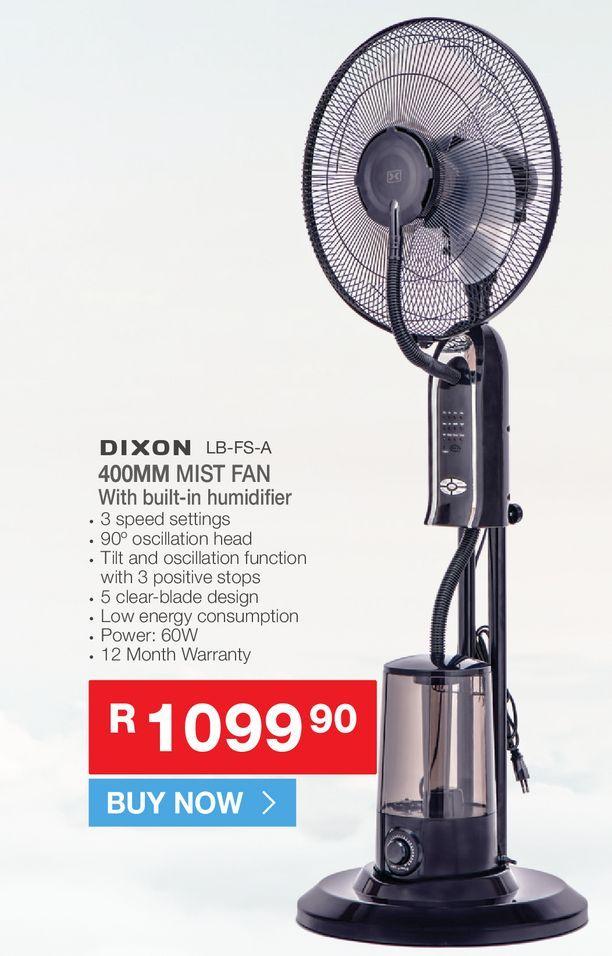 Dizon LB-FS-A Mist fan offers at R 1099,9