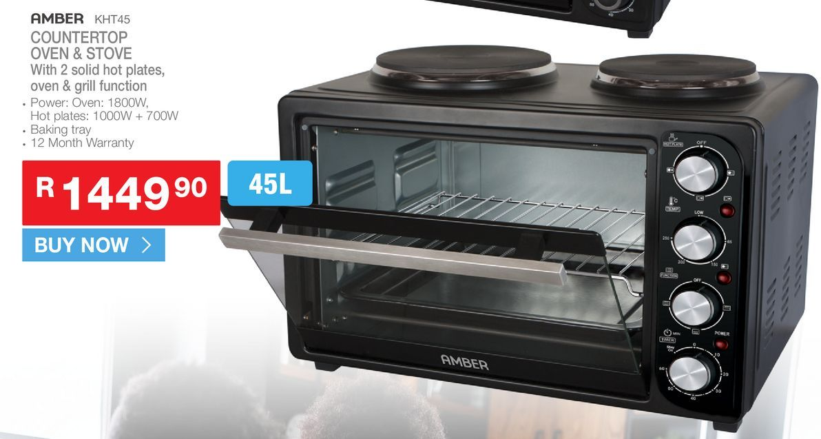 AMBER KHT45 Countertop oven & stove offers at R 1449,9