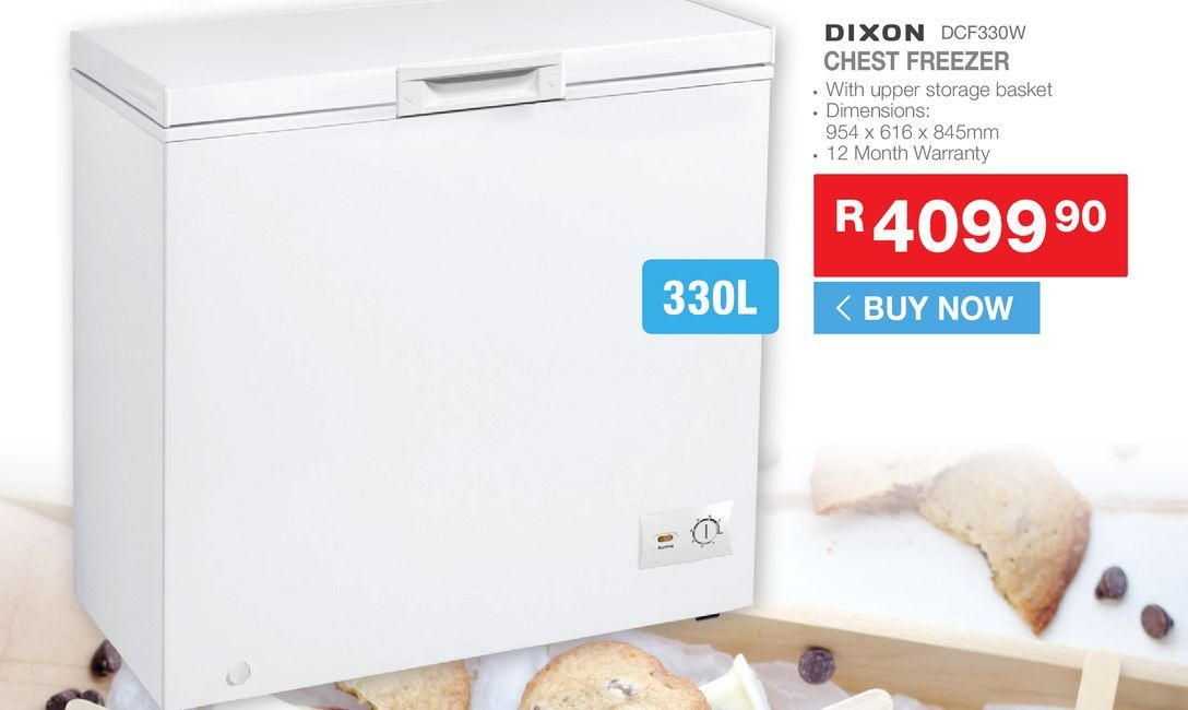 Dixon DCF330W Chest freezer offers at R 4099,9