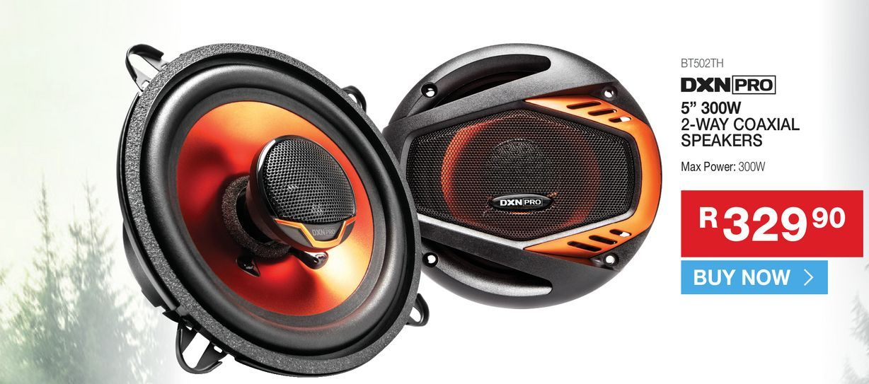 DXN Pro BT502TH 2-way Coaxial speakers offers at R 329,9
