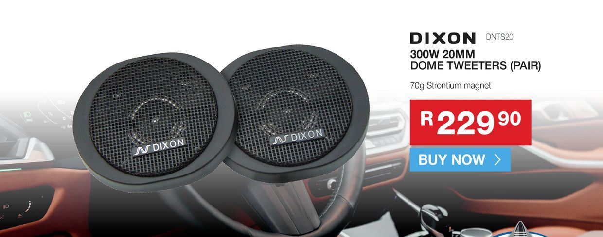 DIXON DNTS20 Dome tweeters (pair) offers at R 229,9