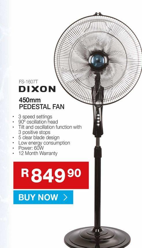 DIXON Pedestal fan offers at R 849,9