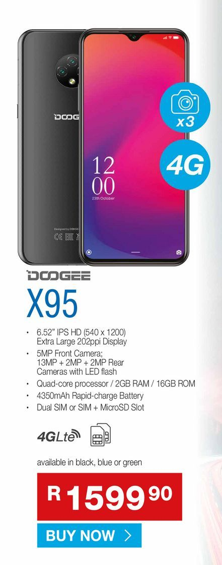 Dodgee X95 offers at R 1599,9