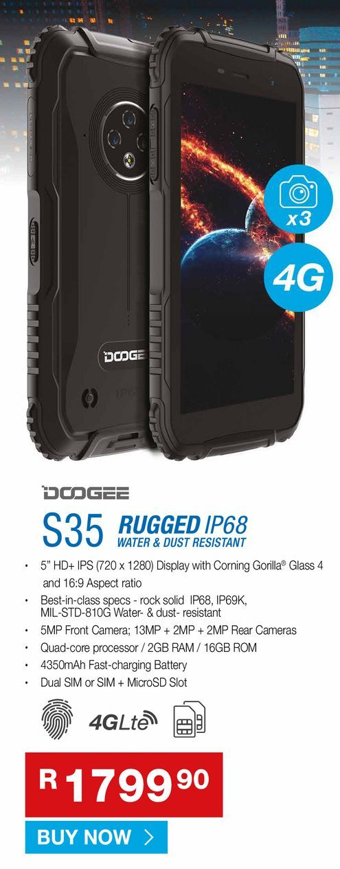 DODGEE S35 offers at R 1799,9