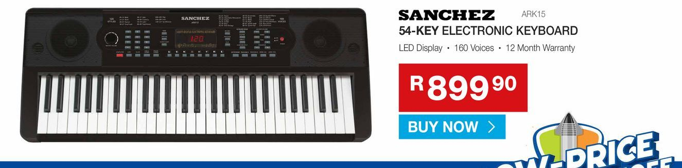SANCHEZ 54-key electronic keyboard offers at R 899,9
