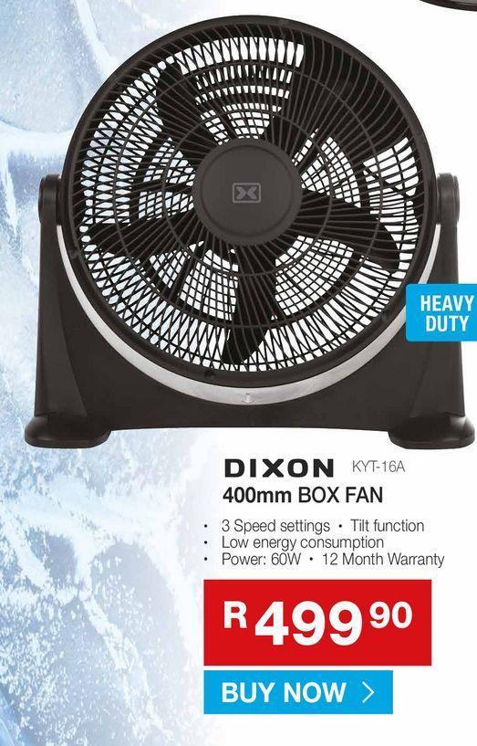 DIXON BOX fan offers at R 499,9