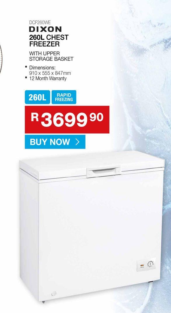 DIXON 260L chest freezer offers at R 3699,9