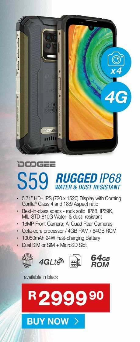 Dodgee S59 offers at R 2999,9
