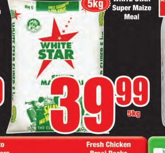White Star Maize Meal  offers at R 39,99