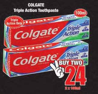 Colgate Toothpaste 2 offers at R 24