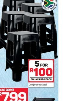 Plastic stool 5 offers at R 100