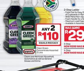 Cleen Green cleaners 2 offers at R 110