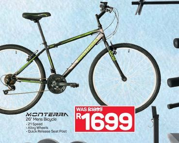 Monterra bicycle offers at R 1699