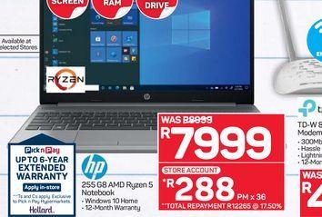 HP Ryzen 5 Notebook offers at R 7999