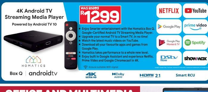 Android TV offers at R 1299