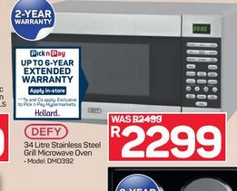 Defy Microwave offers at R 2299