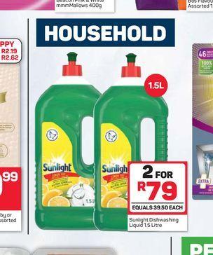Sunlight Dishwashing Liquid 2 offers at R 79