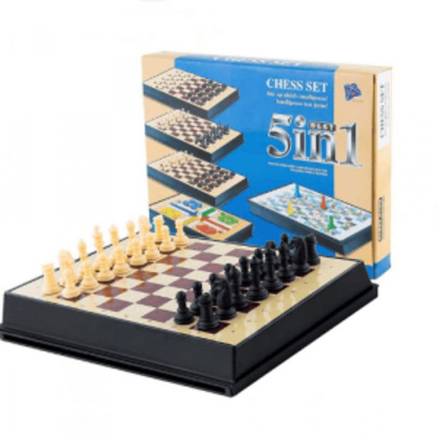 5-in-1 Magnetic Chess Set offers at R 119