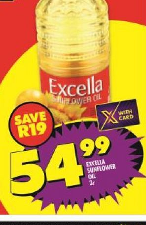 Excella Sunflower Oil  offers at R 54,99