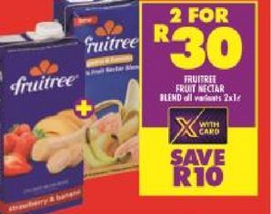 Fruitree Fruit juice 2 offers at R 30