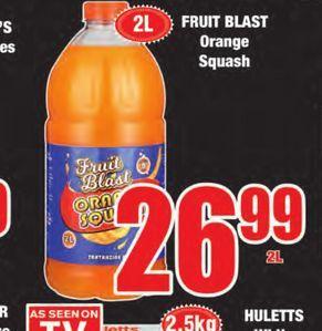 Fruit Blast Orange Squash offers at R 26,99
