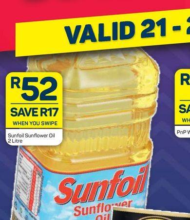 Sunfoil Sunflower Oil  offers at R 52